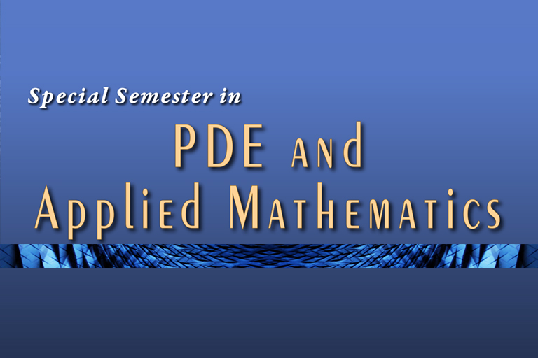 2019 Special Semester in PDE and Applied Mathematics