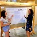 Students present their REU work.